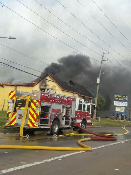MOTEL FIRE IN ROSENBERG